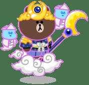 月のツクヨミブラウン:LINEレンジャー